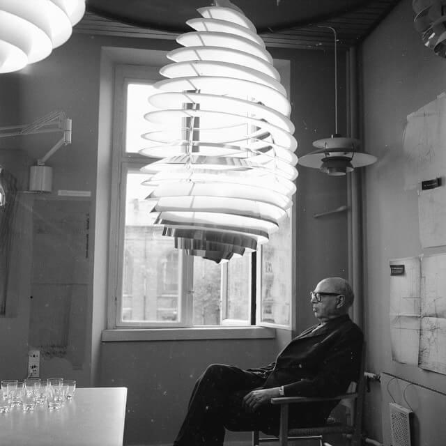 Poul Henningsen lamper portræt