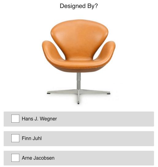 Dansk Design Quiz